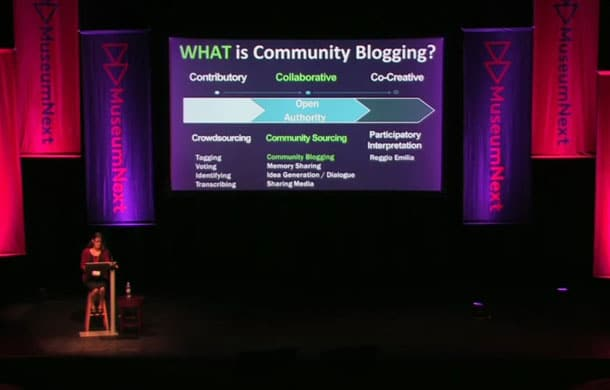 community blogging museums