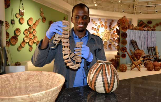 Goabaone Montsho is a blind curator working for Botswana National Museum