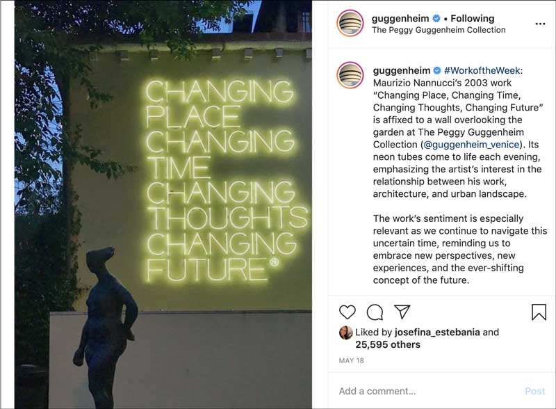 Guggenheim Instagram