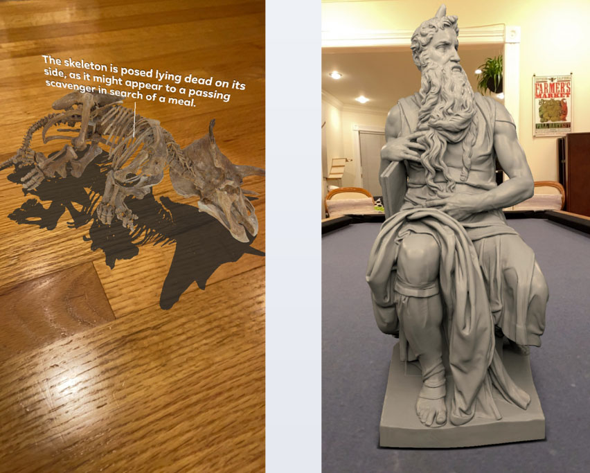 Augmented Reality objects from Smithsonian collection