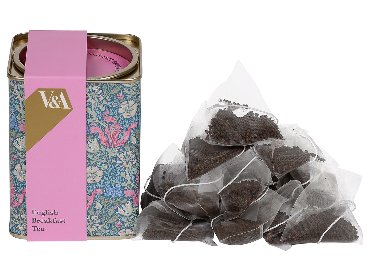 Image of the V&A tea produced with brand licensing deal