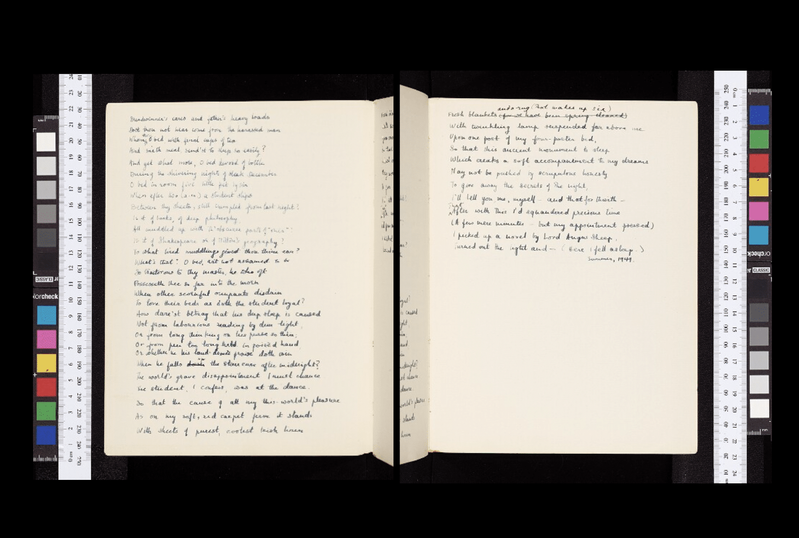 Original notebook belonging to poet Jenny Joseph
