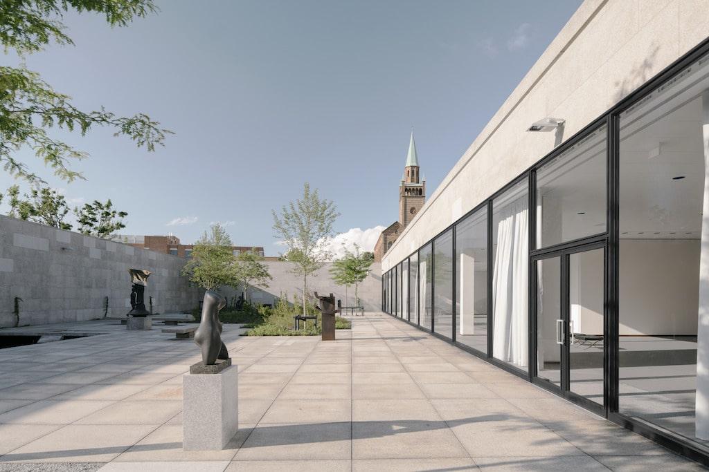 Sculptures have been reinstalled at the Neue Nationalgalerie
