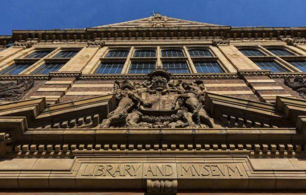The Victorian facade of Worcester Art Gallery & Museum
