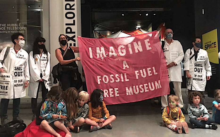 Extinction Rebellion protesters at the Science Museum