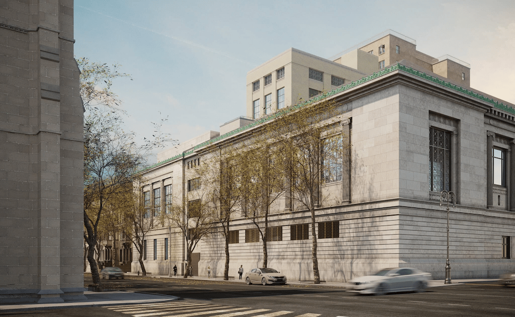 A rendering of the New York Historical Society's expansion project. Credit Alden Studios