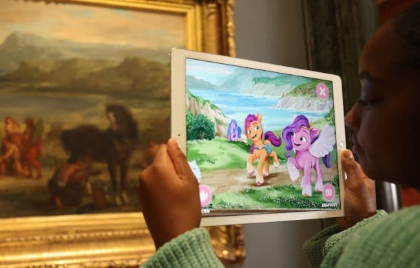 My Little Pony augmented reality pictures at National Gallery