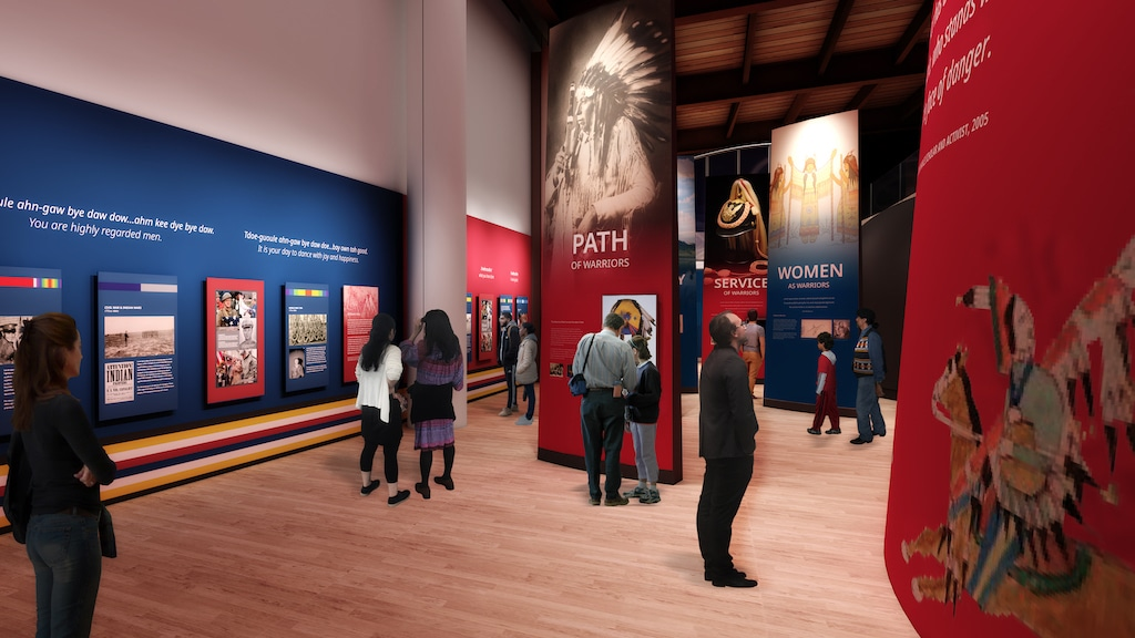 A view of the Okla Homma exhibition
